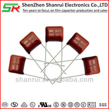 professional factory starting Miniature Metallized Polyester Film Capacitor CL21