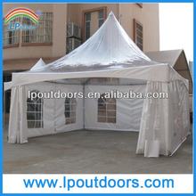 6x6m steel party tent clear roof wedding gazebo