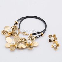 jodha akbar style kundan polki bridal leather necklace jewelry set