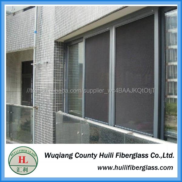 17 X 19 Mesh noir couleur fenêtre rideaux en luxe