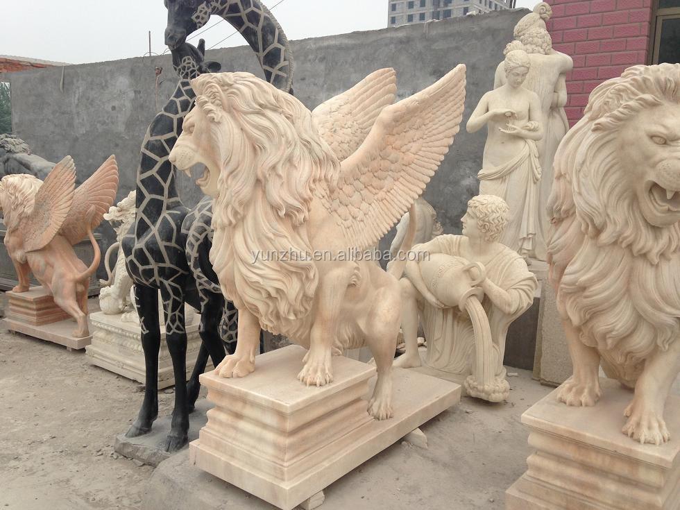 sculpture sur pierre d coration de jardin animal statue grande d coration ext rieure lion pierre. Black Bedroom Furniture Sets. Home Design Ideas