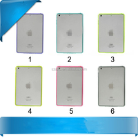 High Quality Double Color Hybrid TPU Transparent Acrylic Combo Case Back Cover for iPad Air