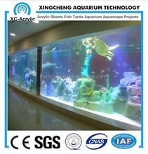 shopping mall acrylic sheet aquarium project made by xingcheng factory