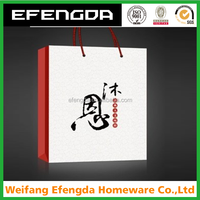 Professional Custom Design Business Suit Clothing Shopping Paper Bag With Logo Printed