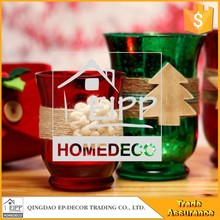 Oem Personalized Home Decoration Laser Glass Candle Holder
