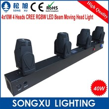 4 heads 4in1 rgbw cree led beam dmx moving head