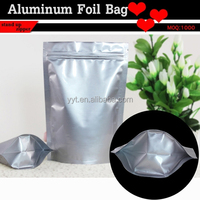 snack food packaging bag aluminum foil standing up zipper pouch