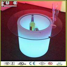 night club plastic outdoor event bar table led lighting