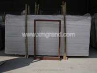 Cultured white wood marble slabs for dining table