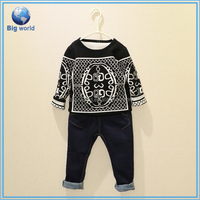 Big World Summer wool Knit Sweater Children Sweater Pullover Sweater Designs For Boys