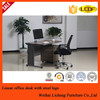 Metal frame wooden desk top office table/executive desk for office use