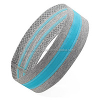 Sport headband with silicone strip