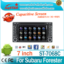 Pure andorid 4.4 subaru forester car dvd player with DVD Bluetooth Radio TV GPS 3G Wifi android! Good quality!