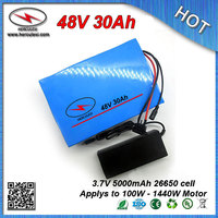 Deep Cycle 1000W PVC cased 48V 30Ah Lithium ion battery pack for 100W - 1440W Electric E Bike Bicycle + 2A Charger FREE SHIPPING