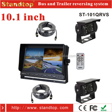 10.1 inch hd quad monitor reverse dual cameras kit