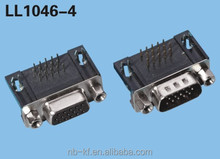 15P D-SUB CONNECTOR RIGHT ANGLE TYPE 94V-0
