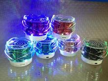 2015 new innovative crystal rose shape design with colorful LED lighting mini speaker, new bluetooth wireless speake