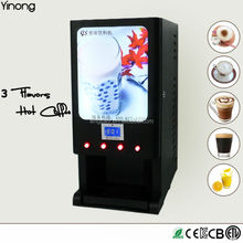 Yinong GBD203D 3 hot flavors instant coffee maker machine