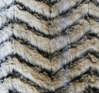 Hote sale fake tiger fur brushed fabric for upholstery/garment