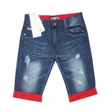 GZY Stocklot 2015 fashionable men short jeans straight leg jeans