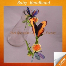 plastic hair band/butterfly headband/hair bands for kids SFUH-039