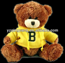 New arrival kids toy stuffed plush teddy bear with beantown usa sweater and EN71 approval
