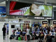 Creative Wave Type Popping P10 outdoor led large screen display