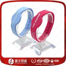 HF Ultralight Custom RFID silicone wristband for Health Care