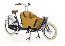 Pedal/electric Two wheels delivery bicycle/cargo bike or box bike for Family/2 wheel bicycles for two kids/ 2 wheel bakfiets