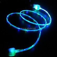 China mobile phone LED light Glowing USB cable for iPhone 6 USB cable