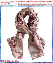 taupe background print with floral cashmere wool scarf,Wool Shawl Wraps,Strip Pattern Scarf