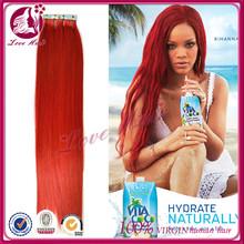 le aziende alla ricerca di distributori personale dei capelli di colore rosso coloranti real brasiliano nastro per capelli vendita di spessore dei capelli di trama della pelle foto