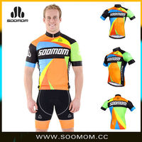 custom-tailar ropa de cilismo breathable&quick dry cycling clothing colourful bike clothing made in China no minimum
