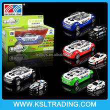 2015 remote control high qulity pull back police mini car toy