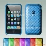 Soft plastic cell phone case for apple iphone 3G with sphere