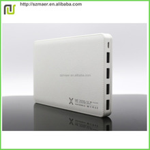 Polymer Cell Core 20000mAh DC power supply Power Banks Four 5V 2.1A USB