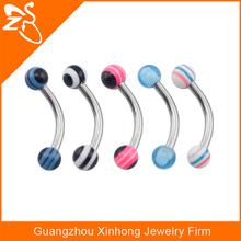 Tragus Balls Ball Stainless Steel Barbell Curved Bars Eyebrow Rings Surgical Steel Internally Threaded Curved Eyebrow Barbell
