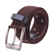2015 New Leather Canvas Belt With Alloy Pin Buckle