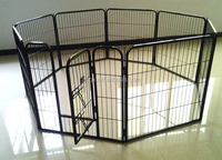 Black 8 Panel Heavy Duty Pet Playpen Dog Exercise Pen