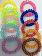 plastic spiral elastic headclip telephone wire hair bands