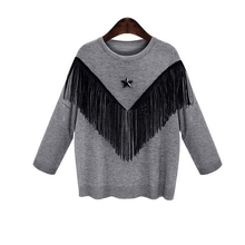 W71022G 2015 wholesale cashmere christmas sweater with tassels pullover woman 2015