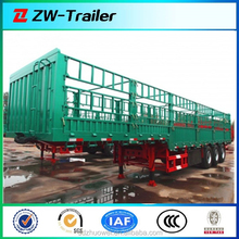China CIMC 3 axles High Wall Rail Fence Trailer for Animal Transportation for Sale