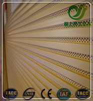 Groove wooden perforated wall panel wpc acoustical panel