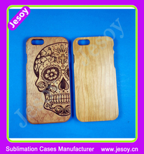 JESOY High Quality Engraved Cell Phone Wooden Case Cover For iPhone 5 6