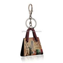 Promotional gift key ring new types of keychain acrylic key ring