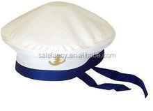 Hot selling white sailor hats captain sailor hat captain cap QHAT-5705