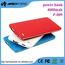 20000mAh Power Generator 2USB 4adaptor Power Bank charger Portable External Battery Pack for smartphone