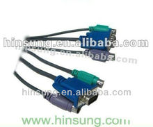 Hot!!! High quality VGA to rca cable adapter with S-Video