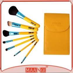 New quality 7 animal hair brushes professional brush set original BAG + pack
