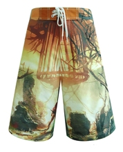 100% polyester tropical swimwear crosfit resort wear